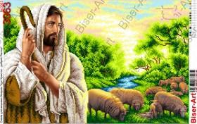 Схема вышивки бисером на габардине Ісус - добрий Пастир Biser-Art 40х60-3063 - 125.00грн.
