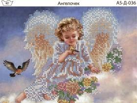 Схема для вышивки бисером на габардине Ангелочек Акорнс А5-Д-036 - 30.00грн.