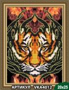 Рисунок на ткани для вышивки бисером Огненный тигр