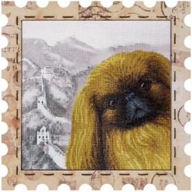 Набор для вышивки нитками Почтовая марка Пекинесс, , 275.00грн., КО4026-У, Новая Слобода (Нова слобода), Животные