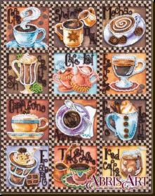 Набор для вышивки бисером на холсте Кофейная карта Абрис Арт AB-638 - 442.00грн.