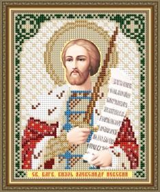 Схема вышивки бисером на авторской канве Святой Благоверный Князь Александр Невский Art Solo VIA5306 - 25.00грн.