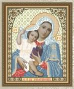 Схема для вышивки бисером на габардине Ты Еси Лоза Виноградная Образ Пресвятой Богородицы