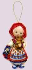 Набор для изготовления куклы из фетра для вышивки бисером Кукла. Россия Баттерфляй (Butterfly) F046