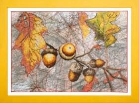 Набор для частичной вышивки крестиком  Осенний набросок