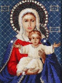 Набор для вышивки крестом Леушинская Богоматерь, , 506.00грн., BR115, Luca-S, Наборы с пришивными камнями