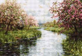 Набор для вышивки крестом Весенний пейзаж, , 1 537.00грн., В545, Luca-S, Большие наборы
