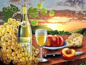 Набор для выкладки алмазной мозаикой Вино Chablis Алмазная мозаика DM-227 - 640.00грн.