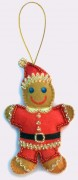 Набор для изготовления игрушки из фетра для вышивки бисером Пряничный человечек