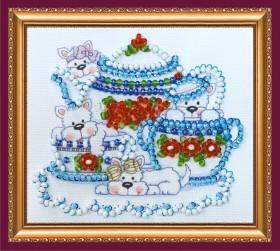 Набор для вышивки бисером магнит Веселые щенки, , 39.00грн., АМА-180, Абрис Арт, Собака символ 2018 года своими руками