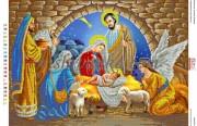 Схема для вышивки бисером на атласе Народження Ісуса Христа