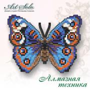 Набор-магнит для выкладки алмазной мозаикой Анютины Глазки (Junonia orithya)