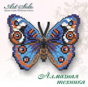 Набор-магнит для выкладки алмазной мозаикой Анютины Глазки (Junonia orithya), , 110.00грн., БАТ02, Art Solo, Открытки, магниты