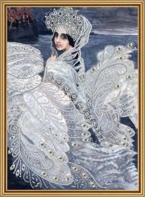 Набор для вышивки бисером на атласе Царевна-лебедь