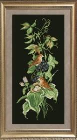 Набор для вышивания нитками Птицы 1