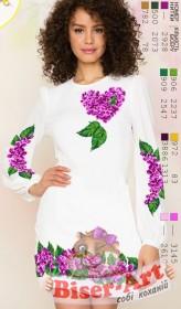 Заготовка женского платья на белом габардине Biser-Art Bis60115 - 410.00грн.