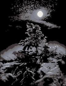 Схема вышивки бисером на атласе Темная ночь Эдельвейс А-2-54+ Атлас - 216.00грн.