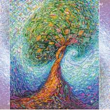 Схема для вышивки бисером на холсте Волшебное дерево жизни Абрис Арт АС-277