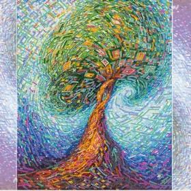 Схема для вышивки бисером на холсте Волшебное дерево жизни, , 106.00грн., АС-277, Абрис Арт, Схемы и наборы для вышивки бисером по Фен шуй