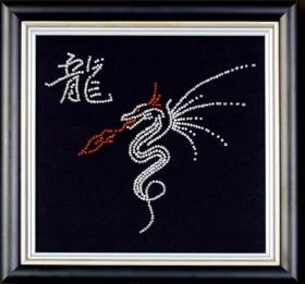 Набор для вышивки бисером Дракон, , 111.00грн., Б-008 МК, Магия канвы, Схемы и наборы для вышивки бисером по Фен шуй