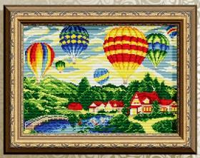 Алмазная мозаика Воздушные шары