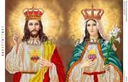 Схема для вышивки бисером на атласе Ісус Христос і ДІва Марія