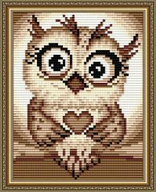 Набор для выкладки алмазной техникой Совенок, , 155.00грн., АТ6201, Art Solo, Животные