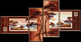 Схемы для вышивки бисером на атласе В лучах заката (4 части), , 268.00грн., В46513, Новая Слобода (Нова слобода), Картины из нескольких частей
