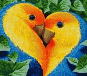 Схема для вышивки бисером на атласе Одно сердце на двоих