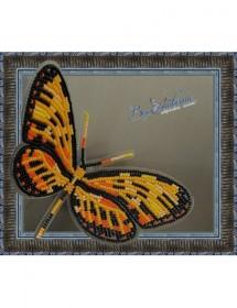 Набор для вышивки бисером на прозрачной основе Бабочка Механитис Менапис