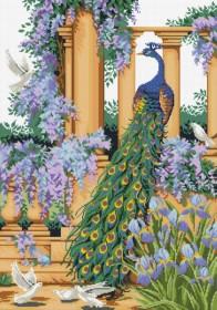 Набор для выкладки алмазной мозаикой Павлин в саду Алмазная мозаика DM-295 - 760.00грн.