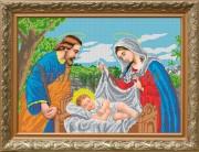 Рисунок на габардине для вышивки бисером Икона Рождество