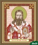 Рисунок на ткани для вышивки бисером Святой Евгений