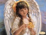 Схема вышивки бисером на атласе Маленький ангел