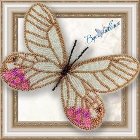 Набор для вышивки бисером на прозрачной основе Бабочка Цитериас пиропина