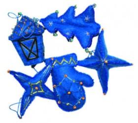 Набор для изготовления новогодних игрушек из фетра  Чарiвна мить (Чаривна мить) В-186 - 66.00грн.
