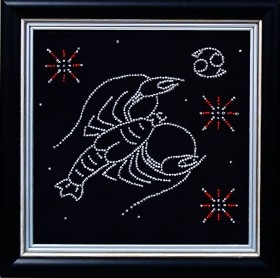 Набор для вышивки бисером Рак, , 102.00грн., БГ-007 МК, Магия канвы, Гороскоп