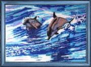 Схема вышивки бисером на атласе Дельфины