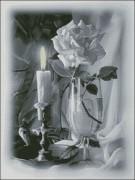 Схема вышивки бисером на габардине Побачення