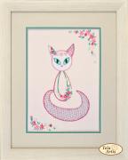 Набор для вышивки в смешанной технике Цветочный кот - 3