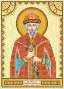 Схема для вышивки бисером на холсте Святой Всеволод