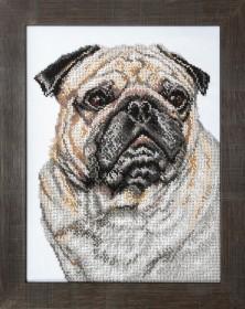 Набор для вышивки бисером Мопс, , 485.00грн., Б-734, Чарiвна мить (Чаривна мить), Собака символ 2018 года своими руками