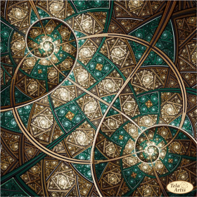 Схема для вышивки бисером на атласе Фрактал Мерцание Вселенной