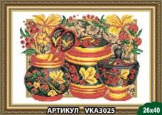 Рисунок на ткани для вышивки бисером Хохлома Art Solo VKA3025