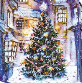 Набор для вышивки бисером Праздник под окнами, , 445.00грн., АВ-534, Абрис Арт, Новый год
