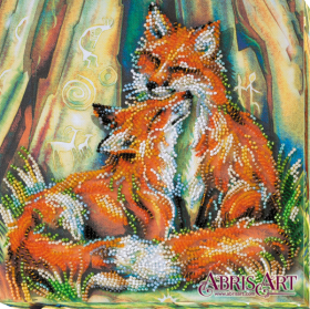 Набор-миди для вышивки бисером на натуральном художественном холсте Лисоньки