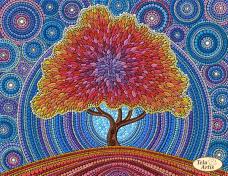 Схема вышивки бисером на атласе Дерево счастья Tela Artis (Тэла Артис) ТА-341