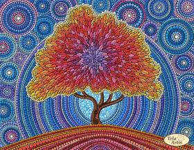 Схема вышивки бисером на атласе Дерево счастья Tela Artis (Тэла Артис) ТА-341 - 95.00грн.