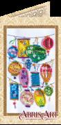 Набор-открытка для вышивки бисером Фонарики желаний