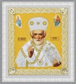 Набор для вышивки бисером Икона Святителя Чудотворца (золото) ажур Картины бисером Р-369 - 210.00грн.